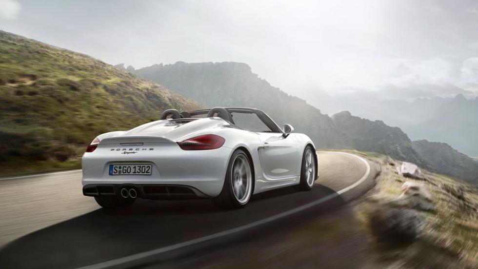 Porsche Boxster Spyder 2015 trasera