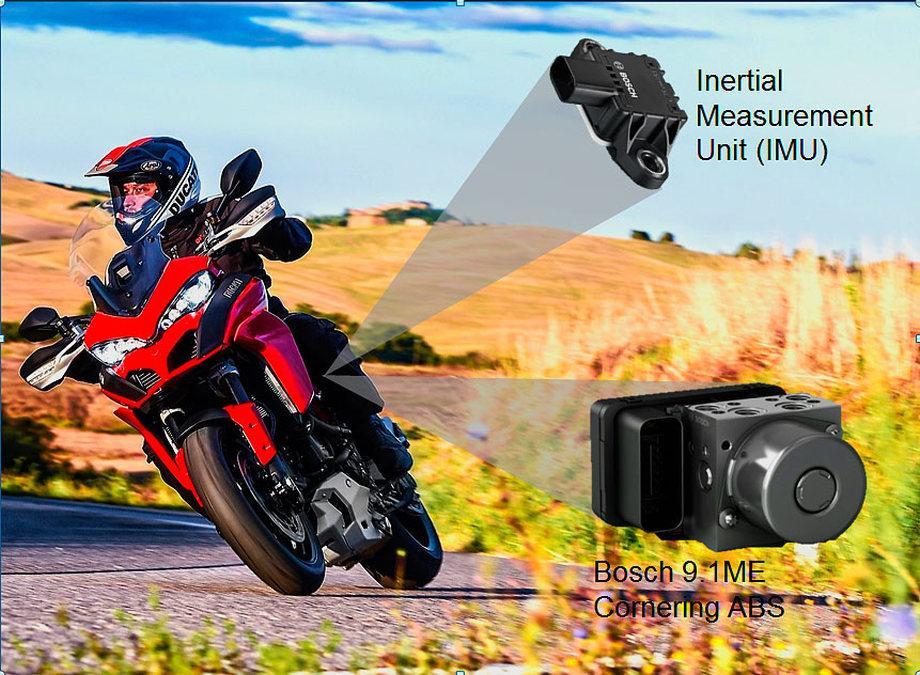 Ducati Multistrada 1200 : sensores y ABS