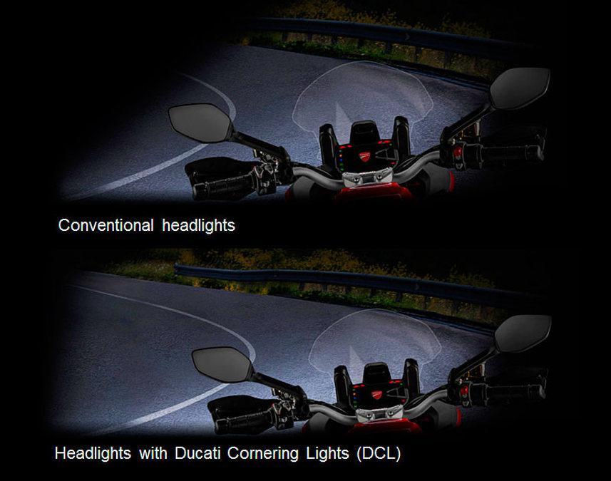 Ducati Multistrada 1200 : iluminación inteligente en curva