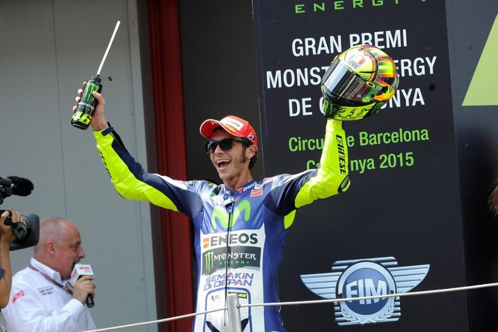 Rossi en el podium
