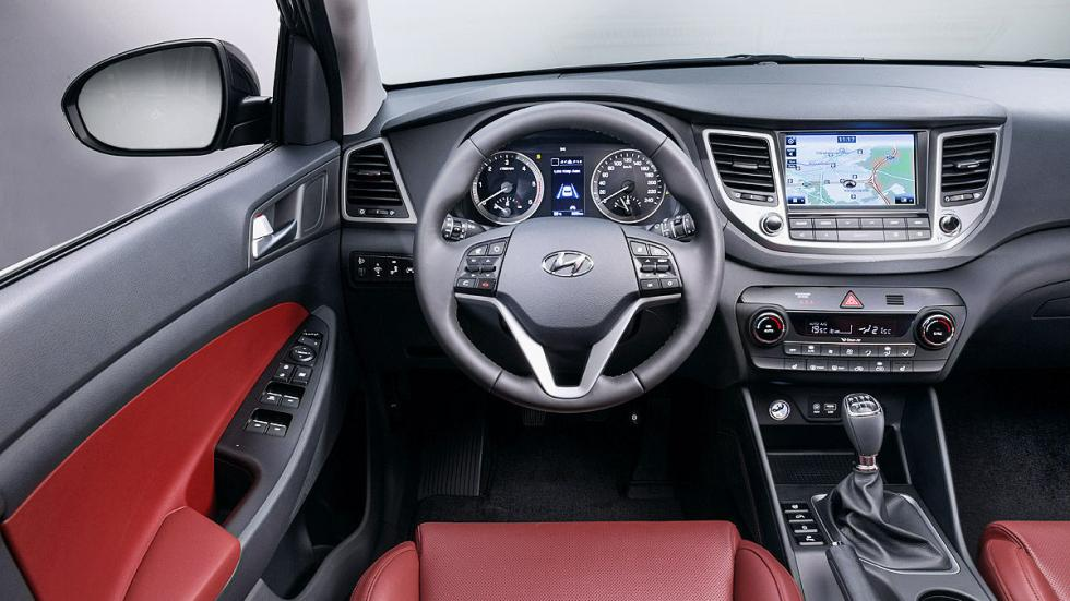 Prueba Hyundai Tucson 2015 interior botones detalle salpicadero