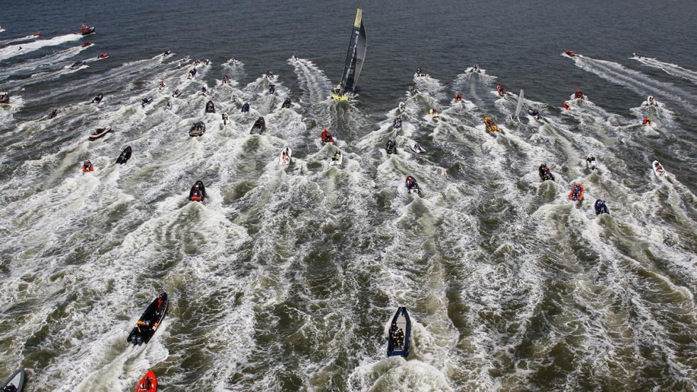Team Brunel tras parar en La Haya Volvo Ocean Race 2014-2015