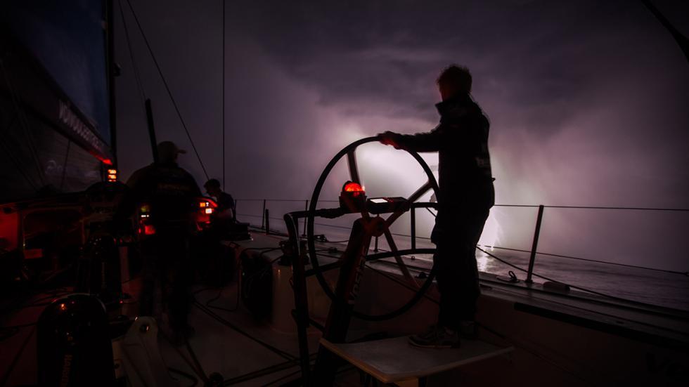 Team Vestas Wind en Golfo de Vizcaya