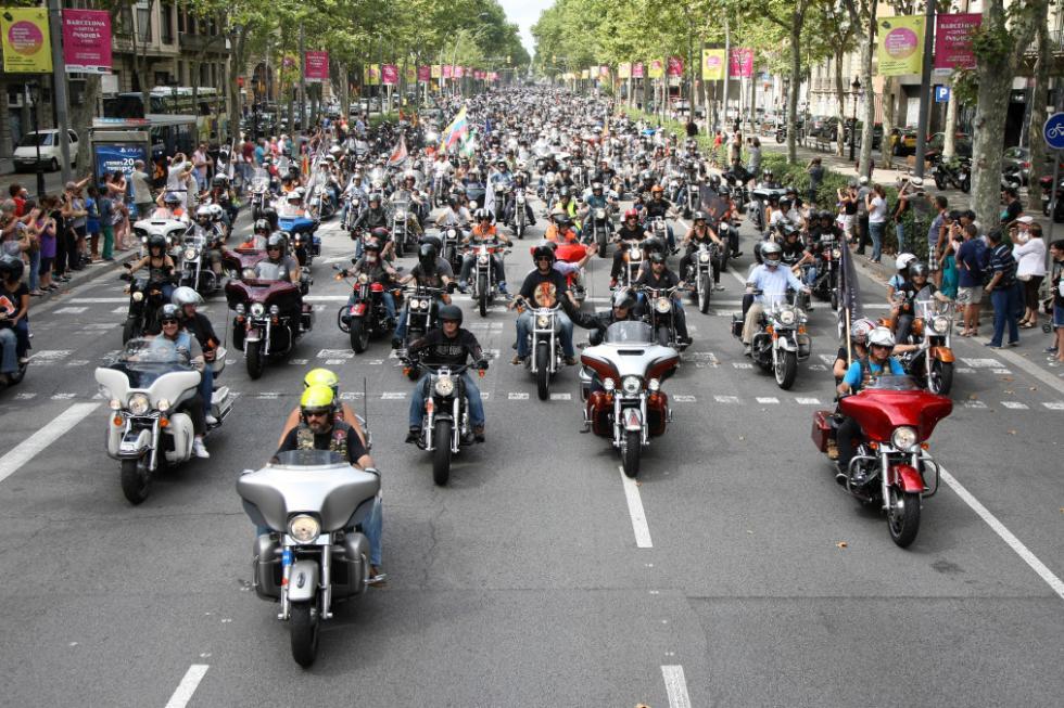 Barcelona Harley Days 2015, desfile