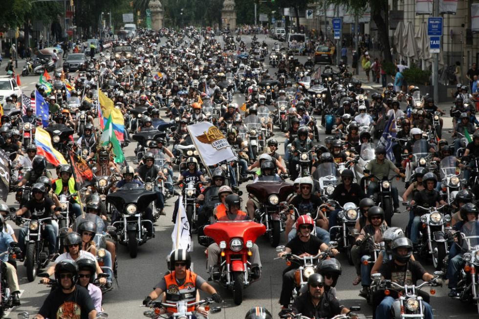 Barcelona Harley Days 2015, desfile multitudinario
