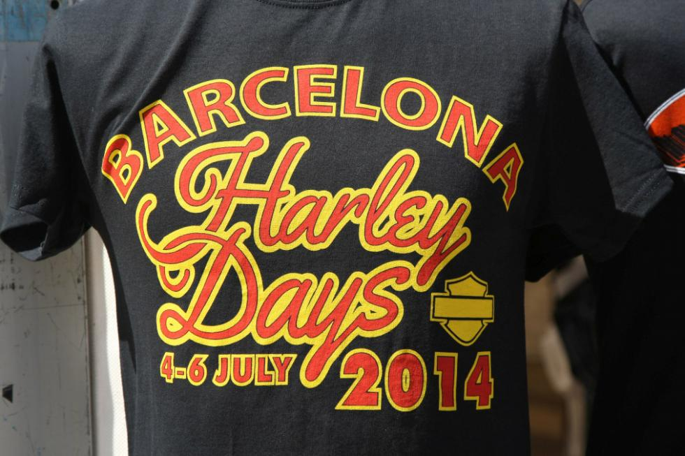 Barcelona Harley Days 2015, camisetas