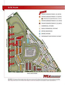 The M1 concours hotel coches map