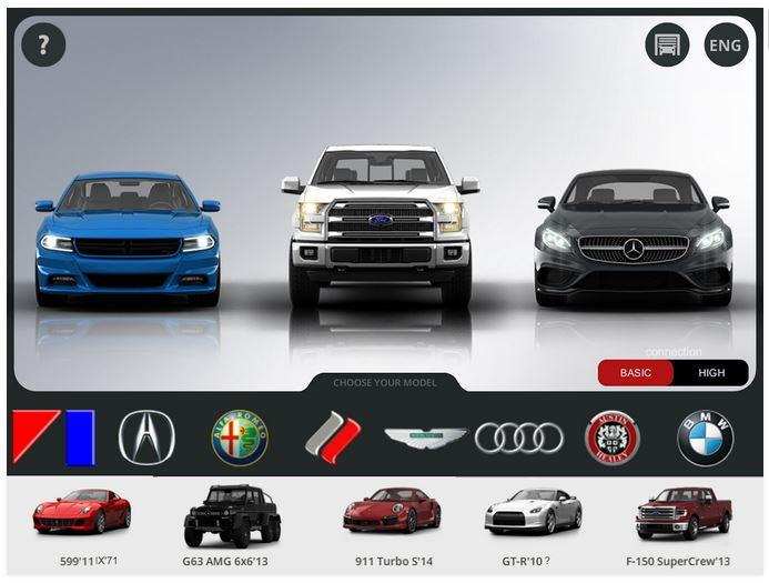 Juego online 3D Tuning