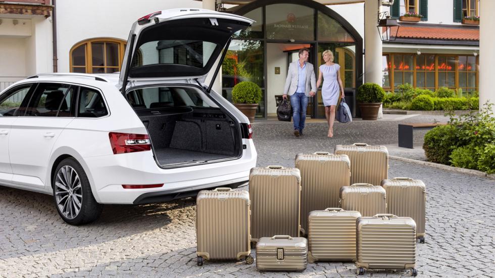 Skoda superb combi 2015 maletas maletero