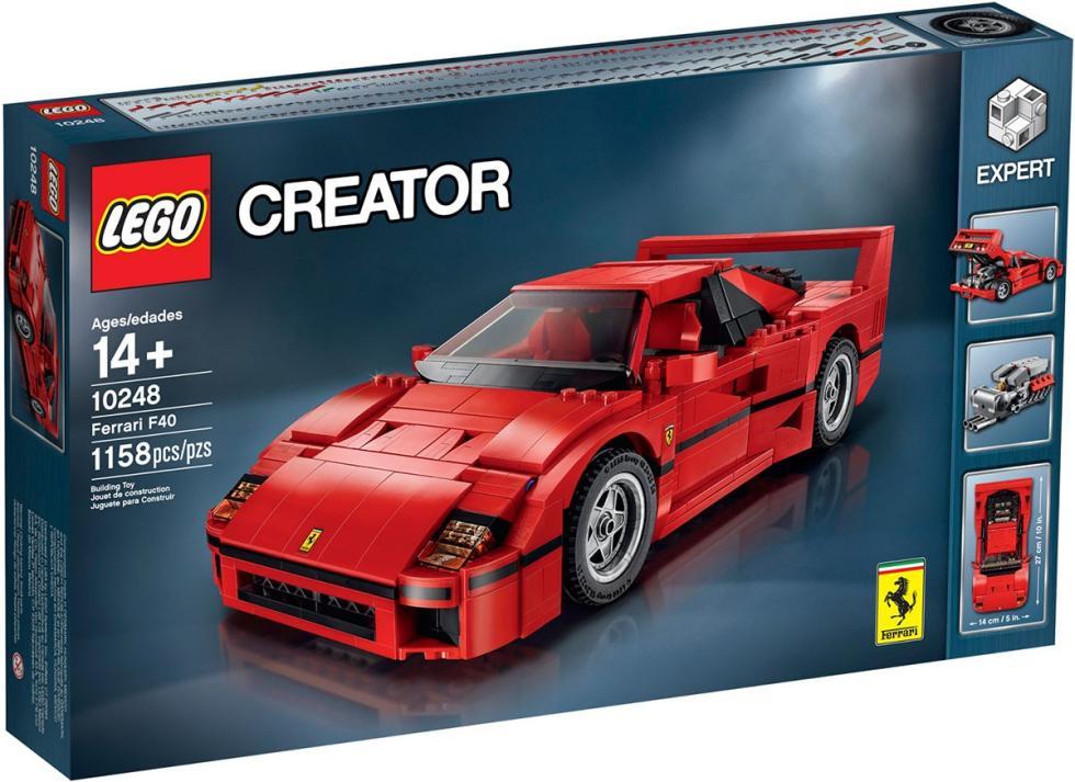 Ferrari F40 de Lego al precio de 84,99 euros.