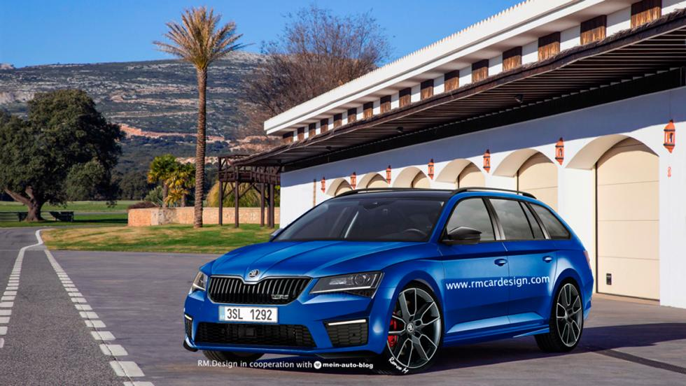 Render Skoda Superb Combi vRS frontal