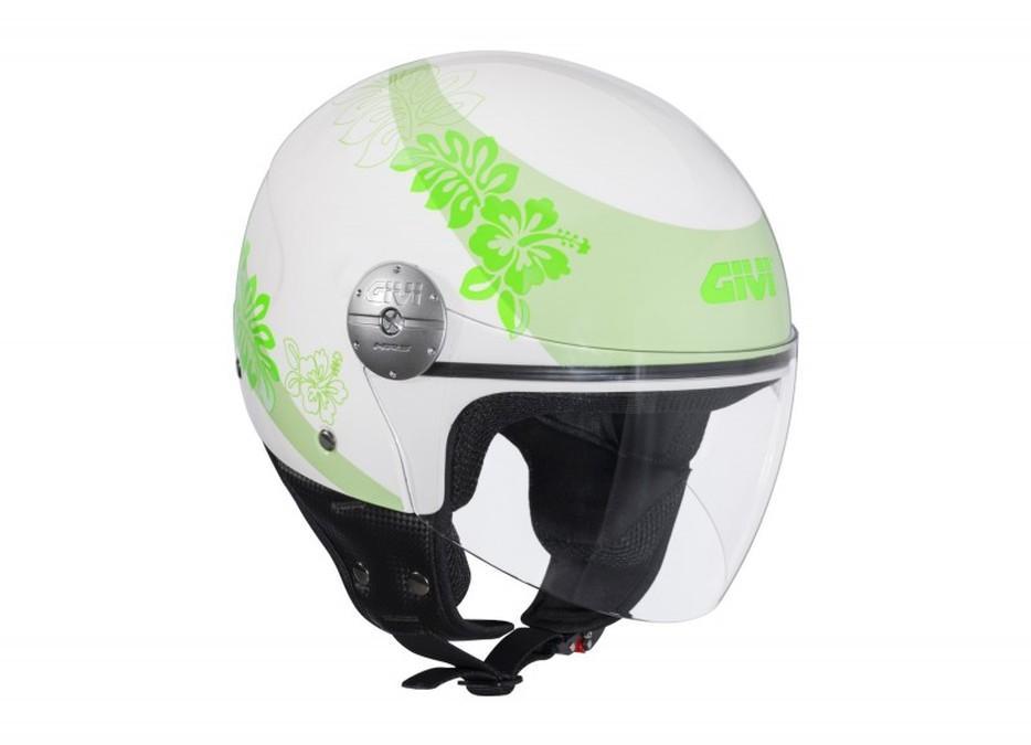 Cascos Givi 10.7 Mini y 10.8 Urban blanco y verde