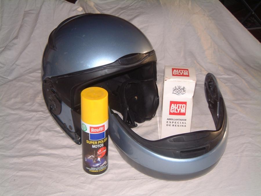 Como limpiar un casco de moto. Pulimento.