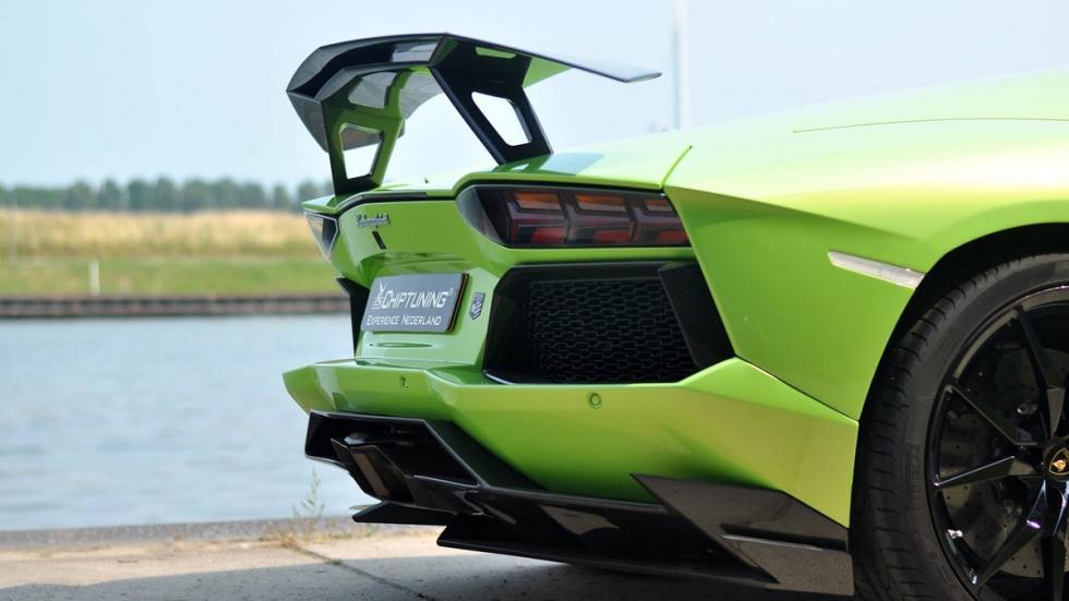 Novitec Torado Lamborghini Aventador verde aleron