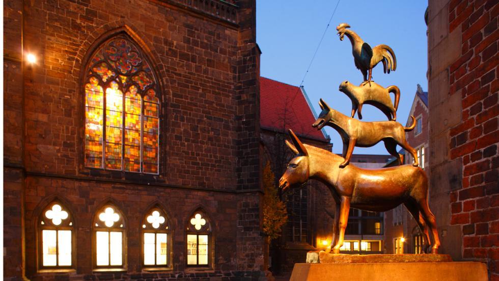 Estatua de los Músicos de Bremen