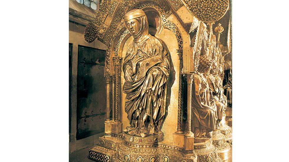 Marburg/Lahn: estate de St. Elisabeth's en la Catedral de St. Elisabeth