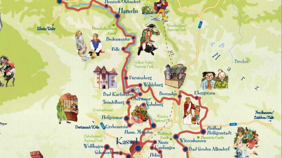Parte 2 del mapa de la Carretera de los Cuentos