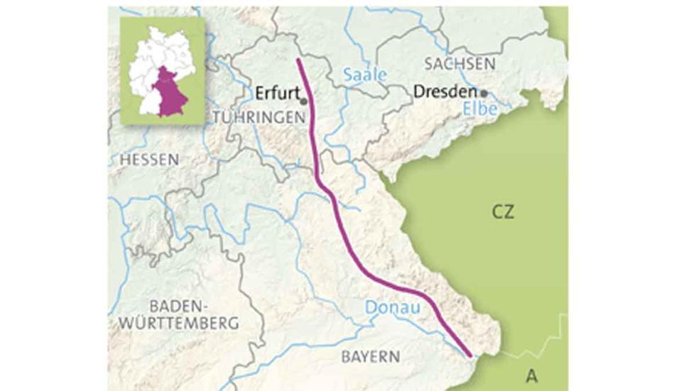 El mapa de la Ruta de la Cerveza y los Castillos.