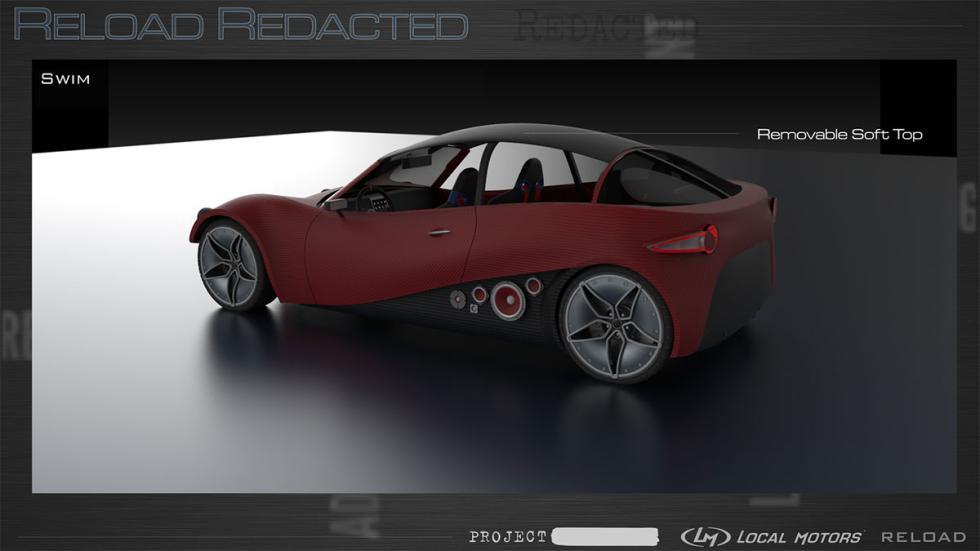 Reload Redacted – Swim/Sport, coche impreso en 3D