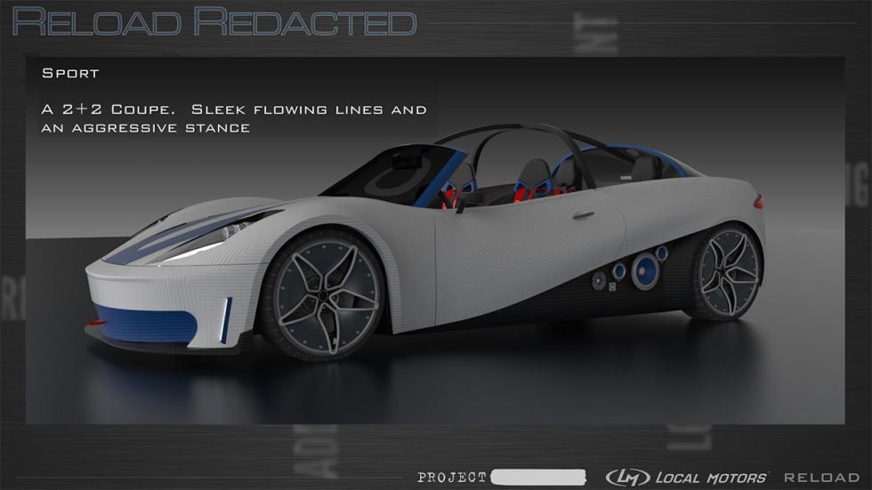 Coche impreso en 3D Reload Redacted – Swim/Sport