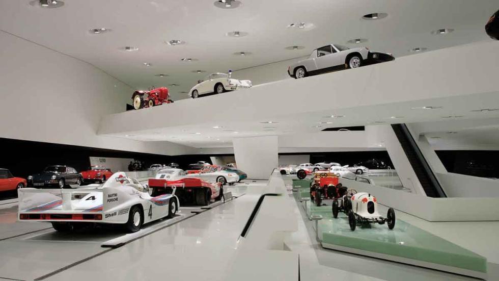 Una de las exhibiciones del Porsche Museum, en Stuttgart.