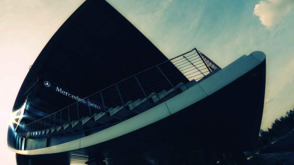 La Tribuna de Mercedes del Motor Sport Arena, en Oschersleben.