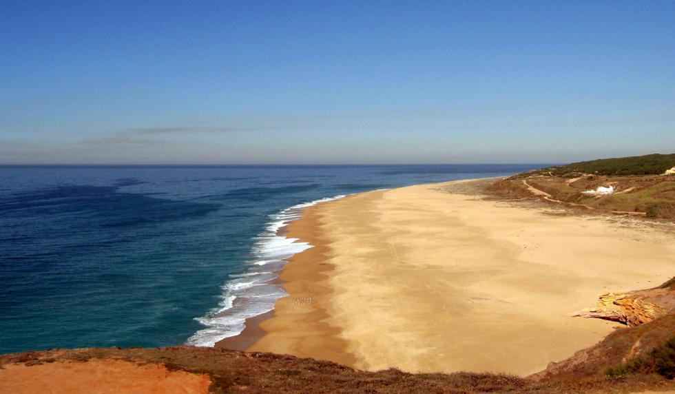 Playa del Norte, en Nazaré