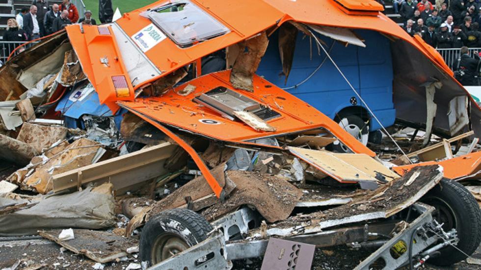 Crash-test a caravanas: el riesgo no descansa en vacaciones. Choque 3