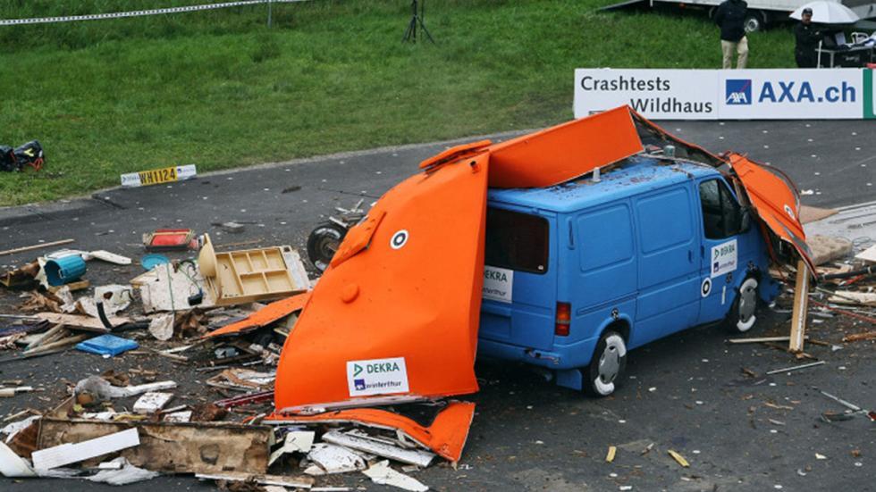 Crash-test a caravanas: el riesgo no descansa en vacaciones. Choque 4