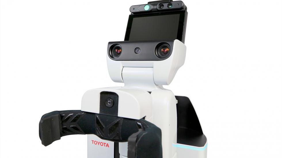 Pantalla de Human Support Robot de Toyota