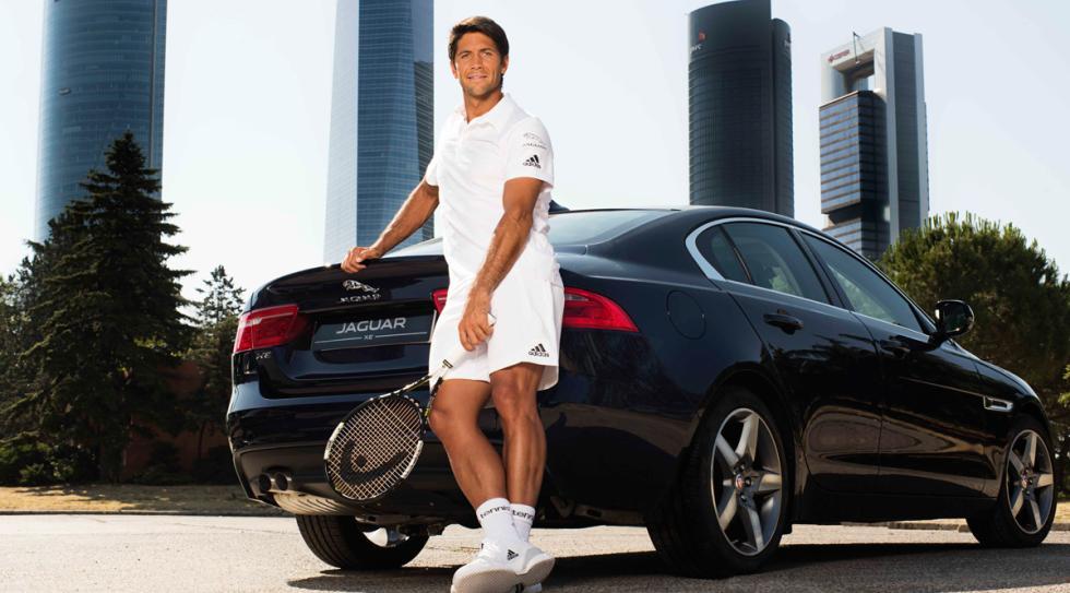 Fernando Verdasco y el Jaguar XE