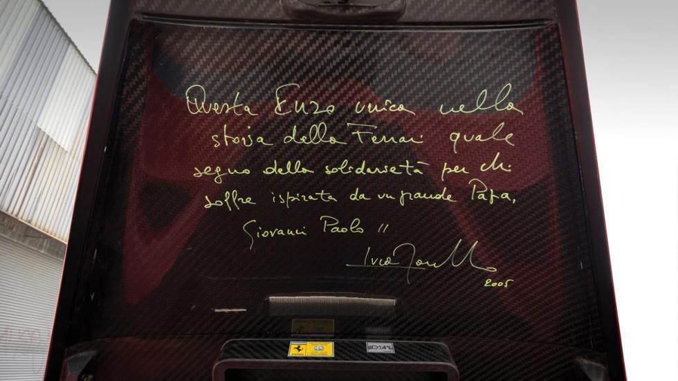 Ferrari Enzo subasta Papa