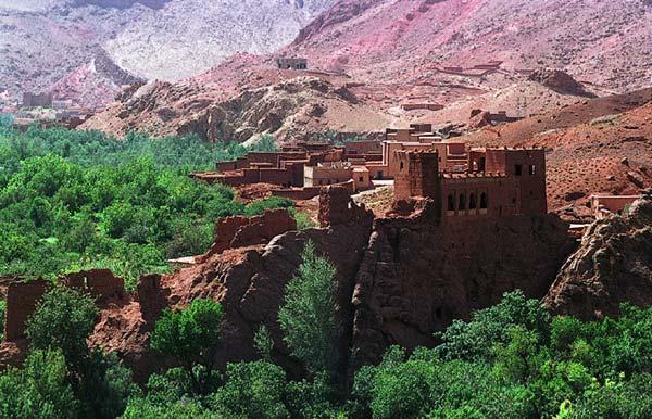 Vista de una extraordinaria 'kashba'.