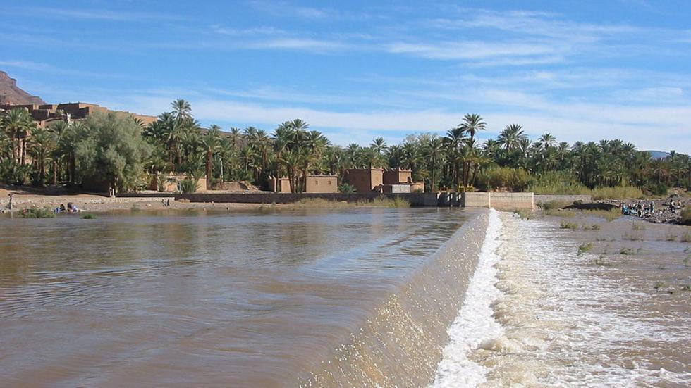 El Río Draa, en Agdz