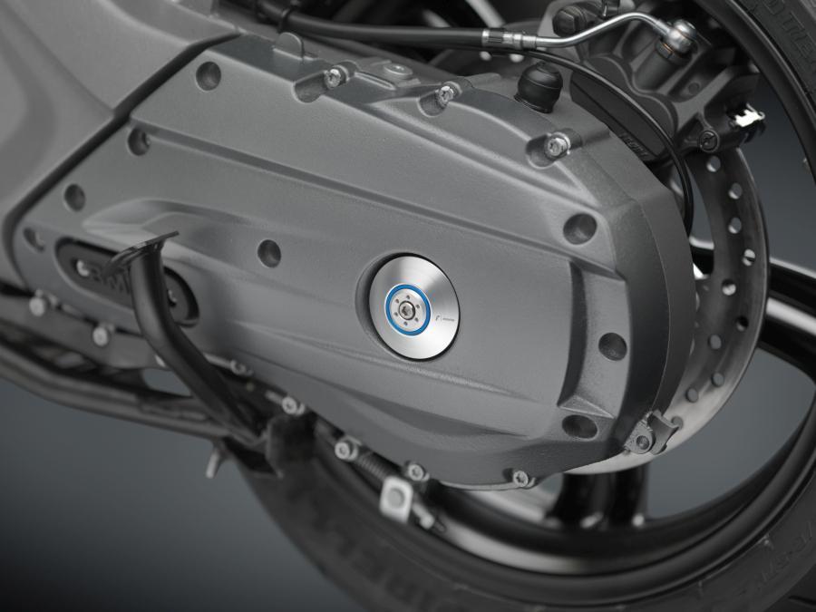 BMW 600 Sport Rizoma piezas anodizadas. Tapas del eje.