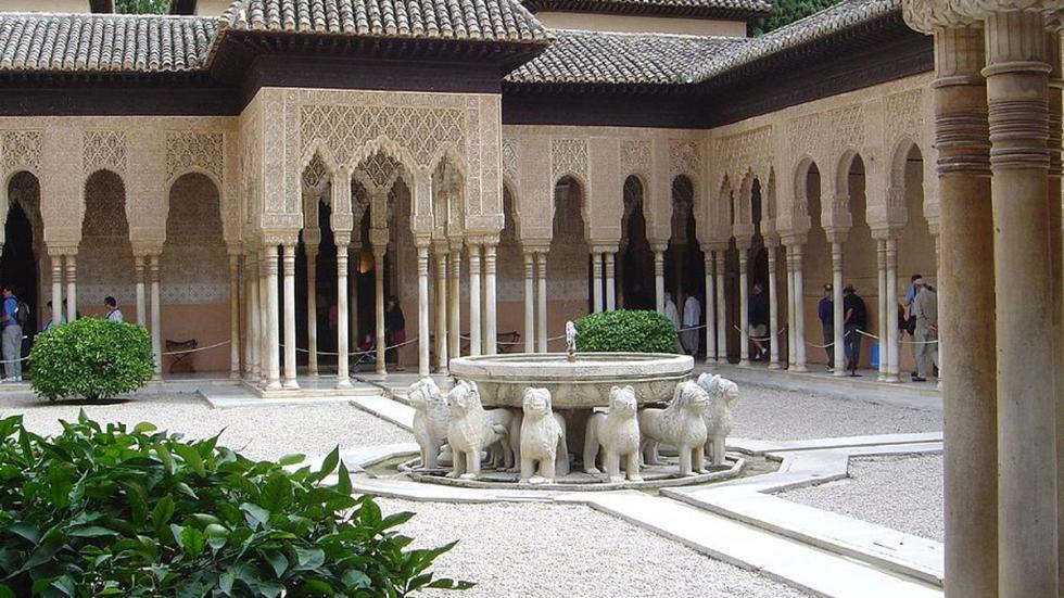 El Patio de los Leones, en la Alhambra.