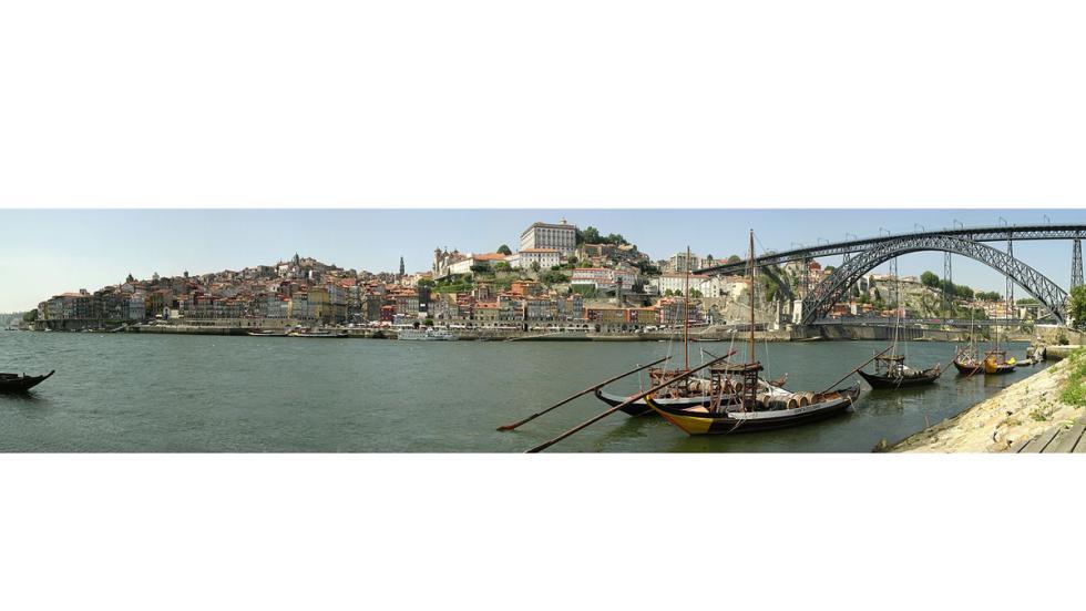 puente Luiz I y el centro histórico de la ciudad