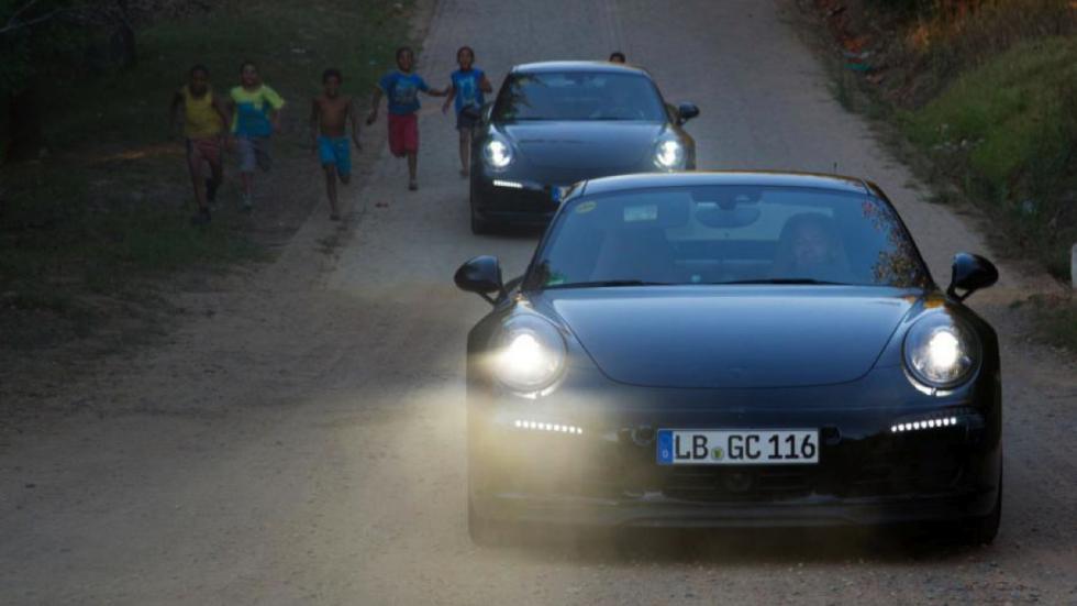 Porsche 911 facelift 2016 test
