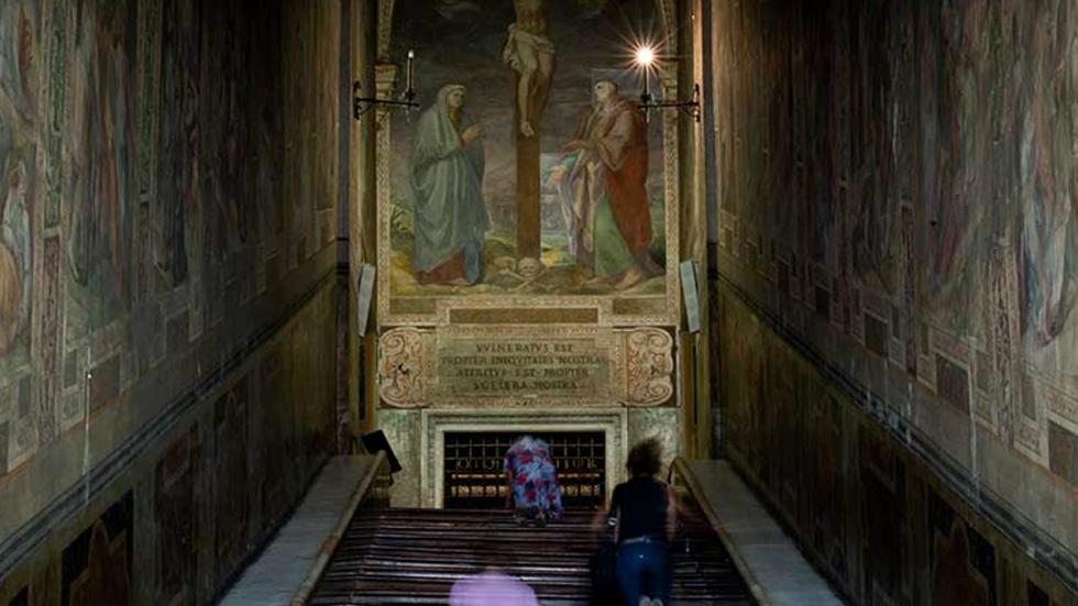 Escalera Santa y Sancta Sanctorum