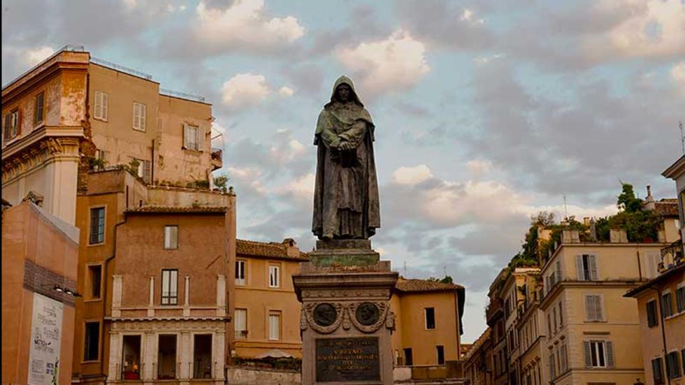 Roma: Campo de' Fiori - Estatua de Giordano Bruno