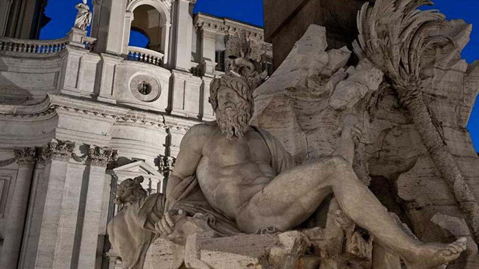Roma: Plaza Navona - Fuente de los Cuatro Ríos (Bernini)