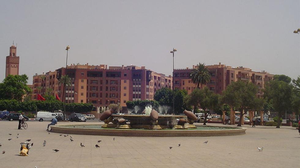 Distrito Gueliz, en Marrakech