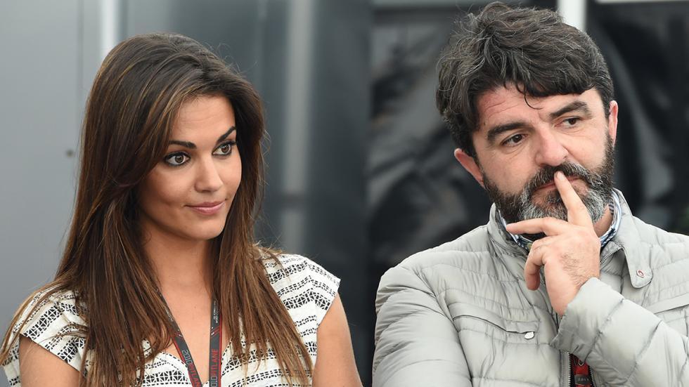 Lara Álvarez y su representante en el Circuito de Jerez