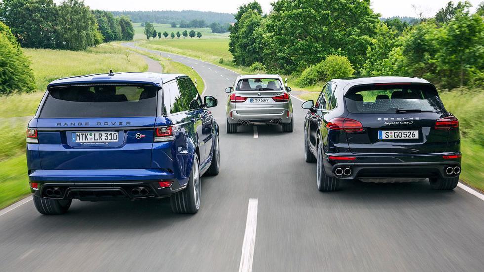 Comparativa: BMW X5 M/RangerRover Sport SVR/Cayenne Turbo S