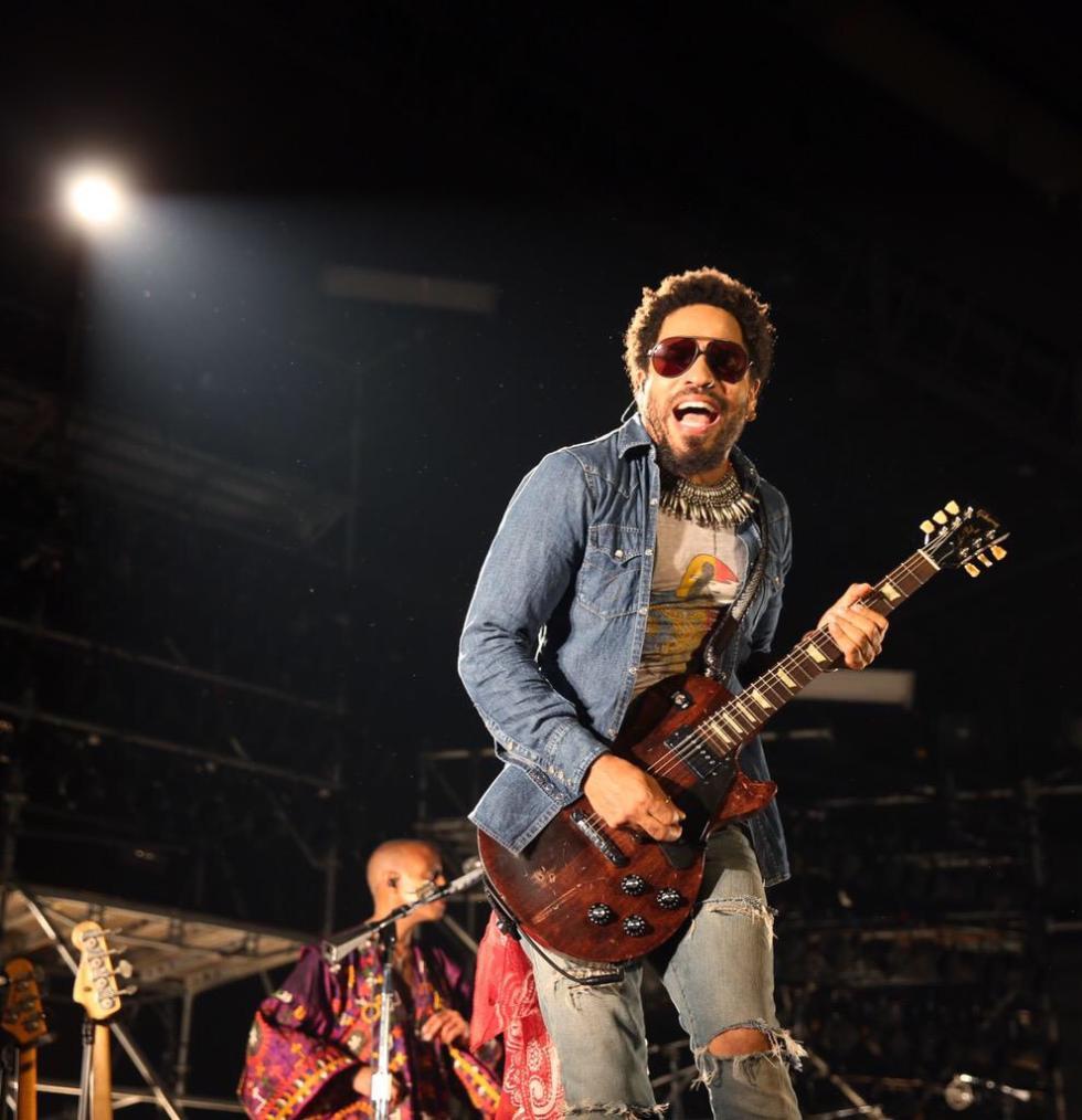 Al concierto de Lenny Kravitz con la KYMCO SuperDink 125i