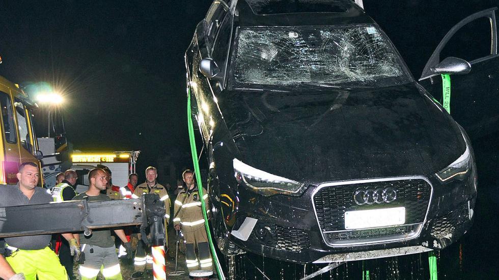 Accidente: un Audi RS 6 cae al agua