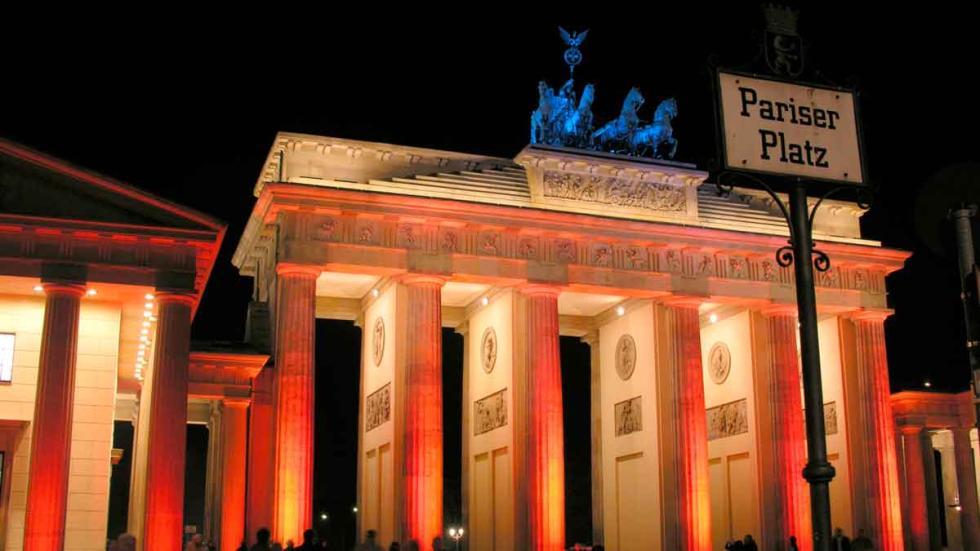 Puerta de Brandeburgo, en Berlín.