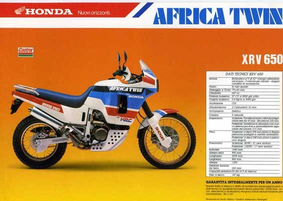 Honda Africa Twin catálogo clásico.