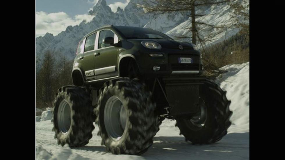 Monster truck ruedas gigantes panda