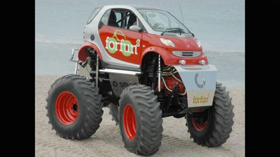 Monster truck ruedas gigantes smart